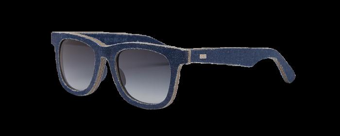 spijkerstof-zonnebril